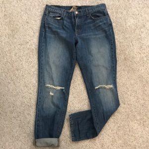 J Brand ripped boyfriend jeans- unworn!